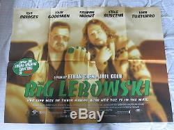 The Big Lebowski Affiche De Film Quadruple Originale Du Royaume-uni Frères Coen, Jeff Bridges, 1988