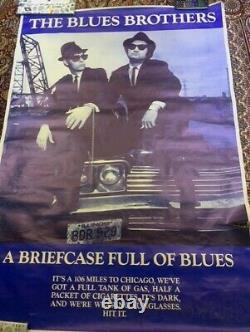 The Blues Brothers (1980) Original Uk Quad Affiche De Film De Cinéma Vintage