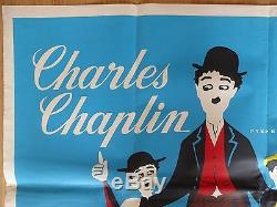 The Chaplin Revue (1959), Charlie Chaplin, Affiche Britannique Originale Représentant Un Film Quad / Film,