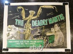 The Deadly Mantis Original British Quad Movie Poster, 30 X 40, C8 Very Fine
