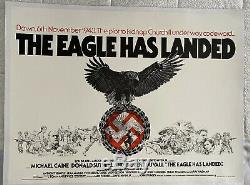 The Eagle Has Landed Royaume-uni British Quad Entoilée Affiche De Film (1977) Caine