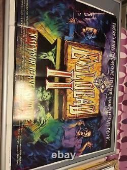 The Evil Dead 2 (ii) Original Uk British Quad Film Poster (1987) Sam Raimi