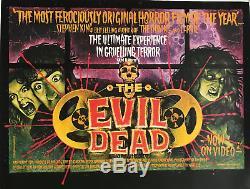 The Evil Dead Entoilée Britannique Quad Affiche De Film (1982)
