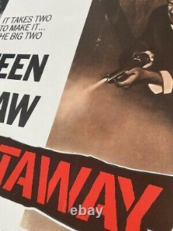 The Getaway Original Linen Backed Uk Quad 30x40 Affiche De Film 1972 Mcqueen