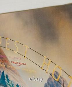 The Grand Budapest Hotel Original 2014 Royaume-uni Quad Art Cult Fiennes Lea Seydoux Film