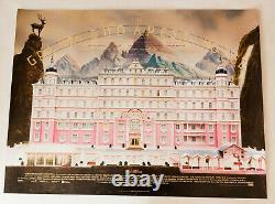 The Grand Budapest Hotel Original 2014 Uk Quad Film Poster Rolled Cinema Artwork