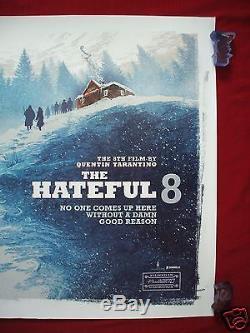 The Hainful 8 Huit 2015 Affiche De Film Originale Britannique Quad D / S Tarantino Rare