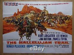 The Hallelujah Trail (1965) Film Original Britannique / Affiche De Film, Western