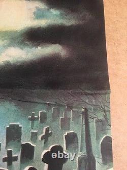 The House By The Cemetery Original British U. K. Quad Cinema Movie Affiche