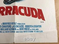 The Inglorious Bastards & Barracuda - Affiche Originale De Cinéma Britannique Quad