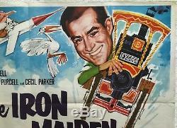 The Iron Maiden 1963 Film Original Quad Poster Renato Fratini Art Michael Craig