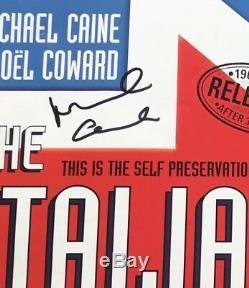 The Italian Job Mini Affiche Signée Michael Caine Autographe Style Quad Original