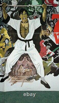 The Legend Of The 7 Golden Vampires (1974) Affiche Originale De Quad-movie Au Royaume-uni -hammer