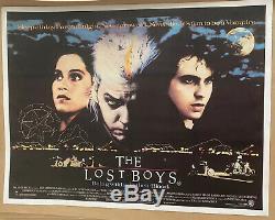The Lost Boys Entoilée Uk Quad (1987) Film Affiche Originale