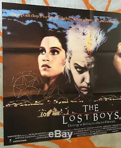 The Lost Boys Uk Quad (1987) Film Affiche Originale