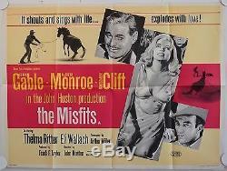 The Misfits Original Affiche De Film Quad Uk Britannique Marilyn Monroe
