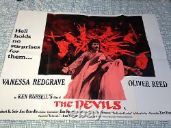 The Original Devils Ken Russell Quad Vintage 1971 Affiche De Film