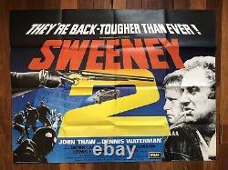 The Sweeney 2 Original 2 Sheet / Quad Film Poster Rare