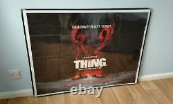 The Thing (1982) Affiche Originale Du Quad Britannique John Carpenter Sci-fi Horror