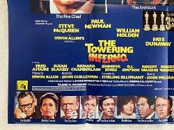 The Towering Inferno Original Film Quad Poster 1974 Steve Mcqueen Paul Newman