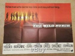 The Wild Bunch Originale 1969 Au Royaume-uni Affiche De Film Quad Très Bon État