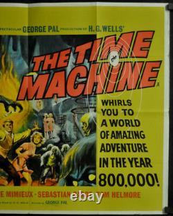 Time Machine 1960 Orig 30x40 Quad Affiche De Cinéma Rod Taylor Alan Young H. G. Wells