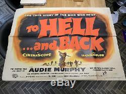 To Hell And Back 1956 Cinéma Affiche Originale D'action Du Royaume-uni Quad Poster Jesse Hibbs