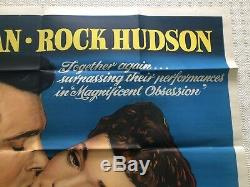 Tout Ce Que Le Ciel Permet Rare D'origine Britannique Film Quad Poster 1955 Rock Hudson