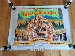 Toxic Avenger Quad Film Affiche Cinéma S'il Vous Plaît Lire La Description Troma Film