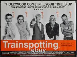 Trainspotting 1996 30x40 2/s Uk Quad Movie Poster Ewan Mcgregor Ewen Bremner
