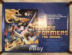 Transformateurs Le Film Uk Quad 1986 Rolled