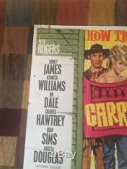 Très Rare Carry Originale Cowboy Film Quad Poster