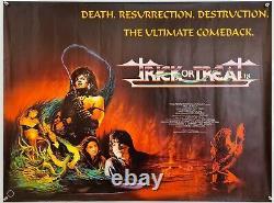 Trick Or Treat 1986 Original Uk Quad Horror Film Poster Gene Simmons