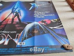 Tron 1982 Affiche Originale De Film De Cinéma Quad 30 X 40 Nice Rare Walt Disney