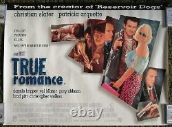 True Romance (1993) Original Uk Quad Movie Poster Quentin Tarantino Roulé