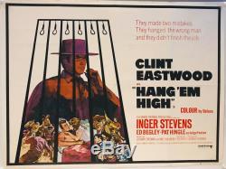 Uk Quad Pendez-les Haut Et Court (1968) Film Affiche Originale