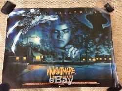 Un Cauchemar Sur Quad Street Uk Affiche Originale Du Film Roulé 1984 Horreur De Culte