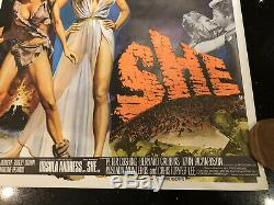 Un Million D'années Avant Jc Elle Andress Welch Vintage Rolled Affiche Film Quad Cinéma