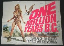 Un Million D'années B. C. Marteau Horreur Affiche Du Film Quad Uk Raquel Welch