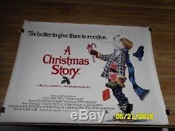 Une Histoire De Noël Affiche Du Film Quad Britannique Bob Clark Christmas Classic Tnt