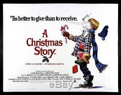 Une Histoire De Noël Cinemasterpieces Poster Film Original Uk Lin Linen 1983