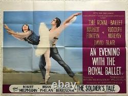 Une Soirée Avec Le Royal Ballet Original Quad Film Poster 1963 Fonteyn, Noureev