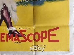Untamed Originale Uk Quad Affiche De Film 1955 Tyrone Power, Susan Hayward, Rare