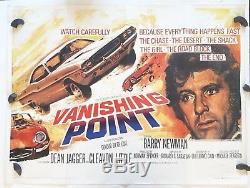 Vanishing Point, Affiche De Film Originale Britannique Quad 1971