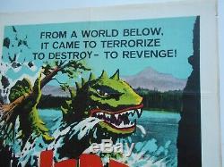 Varan Awful Docteur Orlof Britannique Affiche De Film D'horreur Quad Double Facture Godzilla