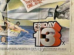 Vendredi 13 Original 1980 Movie Quad Poster Betsy Palmer Adrienne King