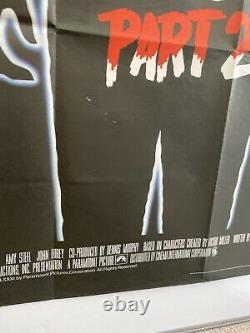 Vendredi 13e Partie 2 Affiche De Cinéma Originale Du Royaume-uni Quad 1981 30x40 Jason Voorhees
