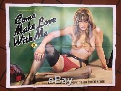 Venez Me Faire L'amour Avec British Film Original Quad Poster Adult Sex Thème 1979