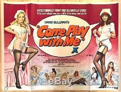 Viens Jouer Avec Moi Affiche Originale De Film Britannique Quad 1977 Art De Tom Chantrell