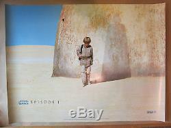 Vintage 1999 Star Wars La Menace Phantom Affiche Du Film De Film Britannique Quad V. Bon